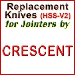 Replacement HSS-V2 Knives for Jointers by Crescent