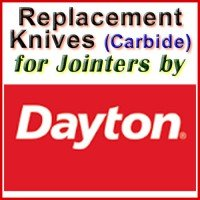 Replacement Blades (Carbide) for Jointers by Dayton