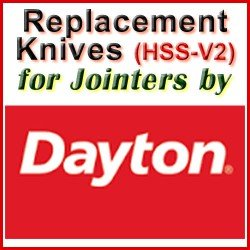 Replacement HSS-V2 Knives for Jointers by Dayton