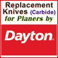 Replacement Carbide Knives for Planers by Dayton