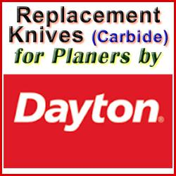 Replacement Blades (Carbide) for Planers by Dayton