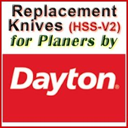 Replacement HSS-V2 Knives for Planers by Dayton