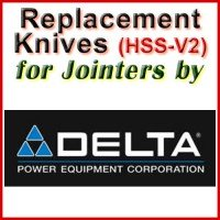 Replacement Blades (HSS) for Jointers by Delta