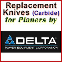 Replacement Carbide Knives for Planers by Delta