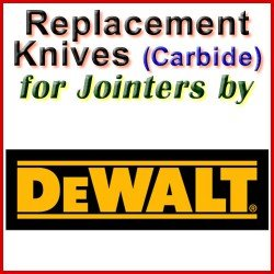 Replacement Blades (Carbide) for Jointers by DeWalt