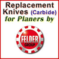 Replacement Blades (Carbide) for Planers by Felder
