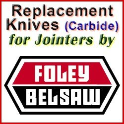 Replacement Blades (Carbide) for Jointers by Foley-Belsaw