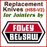 Replacement HSS-V2 Knives for Jointers by Foley-Belsaw