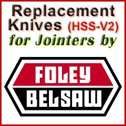 Replacement Blades (HSS) for Jointers by Foley-Belsaw