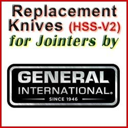 Replacement Blades (HSS) for Jointers by General International