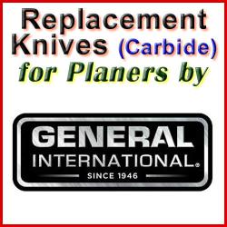 Replacement Blades (Carbide) for Planers by General International
