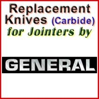 Replacement Carbide Knives for Jointers by General