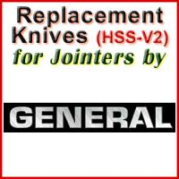 Replacement HSS-V2 Knives for Jointers by General