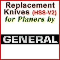 Replacement HSS-V2 Knives for Planers by General