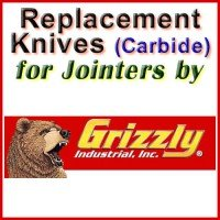 Replacement Carbide Knives for Jointers by Grizzly