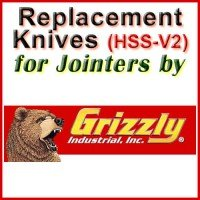 Replacement Blades (HSS) for Jointers by Grizzly