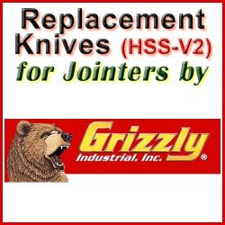 Replacement HSS-V2 Knives for Jointers by Grizzly