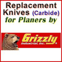 Replacement Carbide Knives for Planers by Grizzly