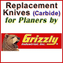 Replacement Blades (Carbide) for Planers by Grizzly