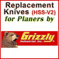 Replacement HSS-V2 Knives for Planers by Grizzly