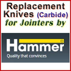 Replacement Blades (Carbide) for Jointers by Hammer