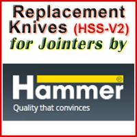 Replacement HSS-V2 Knives for Jointers by Hammer