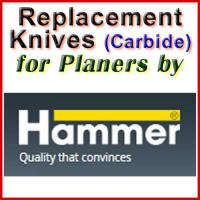 Replacement Carbide Knives for Planers by Hammer