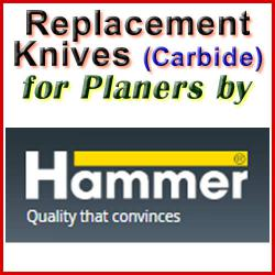 Replacement Blades (Carbide) for Planers by Hammer