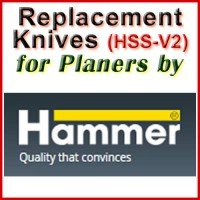 Replacement Blades (HSS) for Planers by Hammer