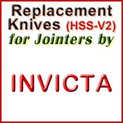 Replacement Blades (HSS) for Jointers by Invicta