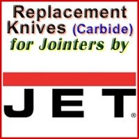 Replacement Carbide Knives for Jointers by Jet