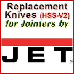 Replacement HSS-V2 Knives for Jointers by Jet
