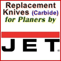 Replacement Blades (Carbide) for Planers by Jet