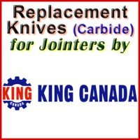 Replacement Carbide Knives for Jointers by King Canada