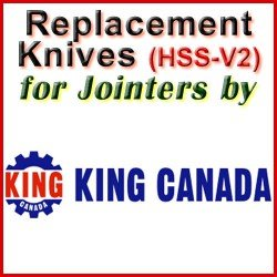 Replacement HSS-V2 Knives for Jointers by King Canada