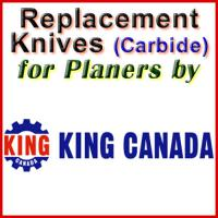 Replacement Blades (Carbide) for Planers by King Canada