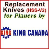 Replacement Blades (HSS) for Planers by King Canada
