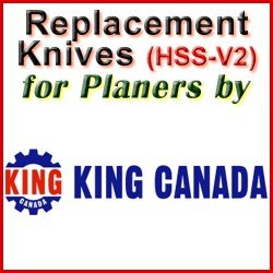 Replacement HSS-V2 Knives for Planers by King Canada
