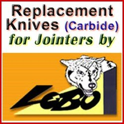 Replacement Blades (Carbide) for Jointers by Lobo