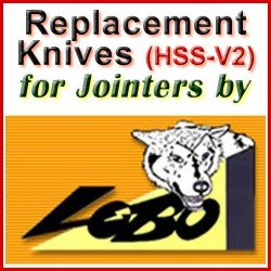 Replacement HSS-V2 Knives for Jointers by Lobo