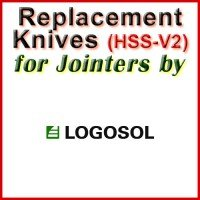 Replacement HSS-V2 Knives for Jointers by Logosol