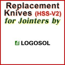 Replacement Blades (HSS) for Jointers by Logosol