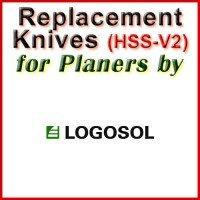 Replacement HSS-V2 Knives for Planers by Logosol