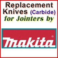 Replacement Carbide Knives for Jointers by Makita