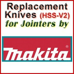 Replacement HSS-V2 Knives for Jointers by Makita