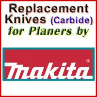 Replacement Carbide Knives for Planers by Makita
