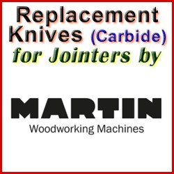 Replacement Blades (Carbide) for Jointers by Martin