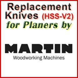 Replacement HSS-V2 Knives for Planers by Martin