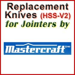 Replacement Blades (HSS) for Jointers by Mastercraft