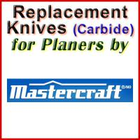 Replacement Carbide Knives for Planers by Mastercraft